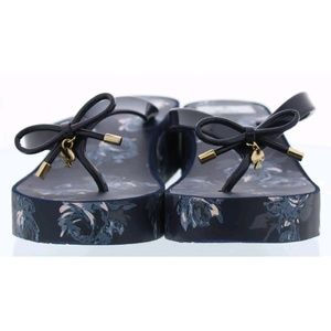 Kate Spade Rhett Platform Flip Flop Sandals Navy